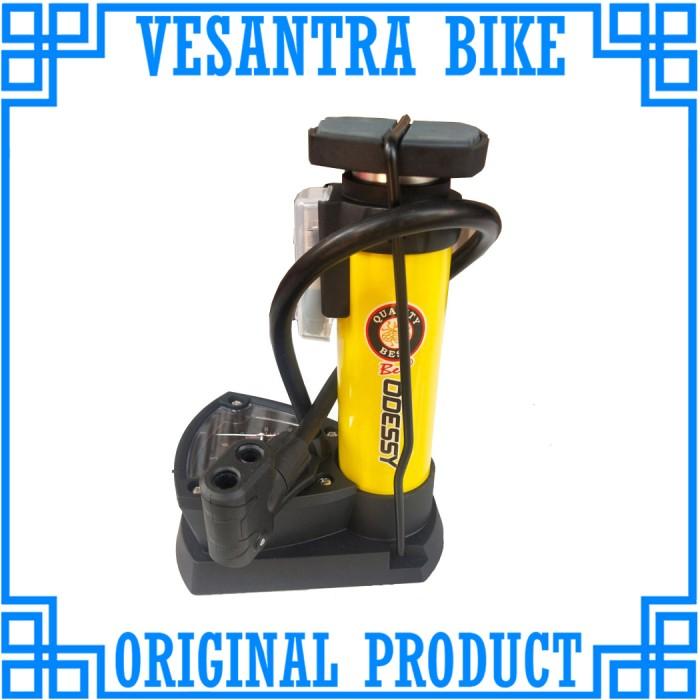 Foto Produk Odessy M4301 Mini Foot Pump Pompa Kaki Sepeda Motor Bola Sofa Kuning dari vesantra