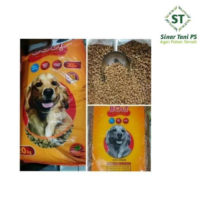Foto Produk Bolt 20kg dog food makanan anjing - Kibble Segitiga dari Sinar tani ps