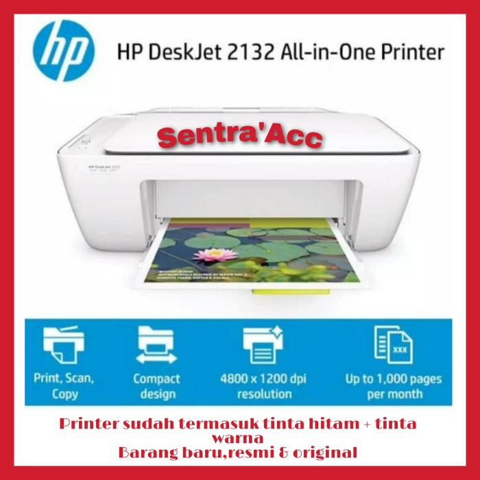 Jual Printer Hp Deskjet 2132 All In One Print Scan Copy Kota Bogor Sentra Acc Tokopedia