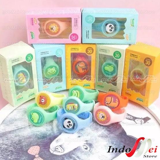 Foto Produk Gelang Anti Nyamuk + LED Gelang Lucu Gelang Anak Gelang Jam Tangan - RANDOM dari Indomei Store