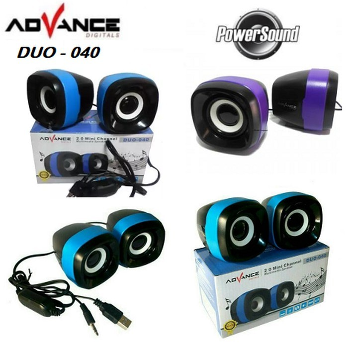 Foto Produk Speaker ADVANCE DUO 040 Stereo USB Multimedia 2.0 XTRA POWER SOUND dari AnerStore