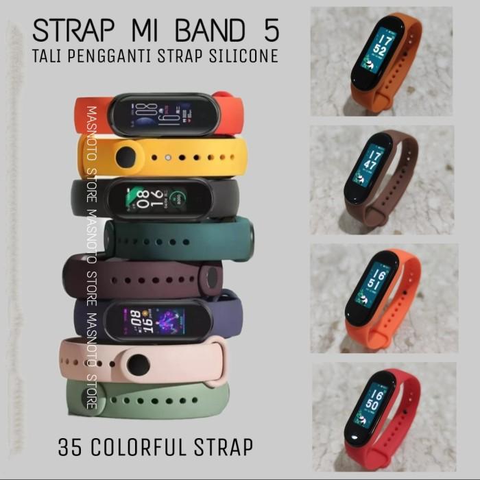 Foto Produk Xiaomi Mi Band 5 Strap Silicone Tali Pengganti Replacement Colorful - Pilih Nomor dari O-Store Indonesia