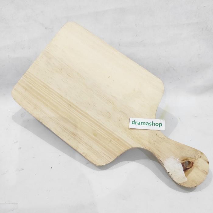 Foto Produk Talenan Cutting Board Kayu gagang medium bisa untuk foto makanan dari dramashop