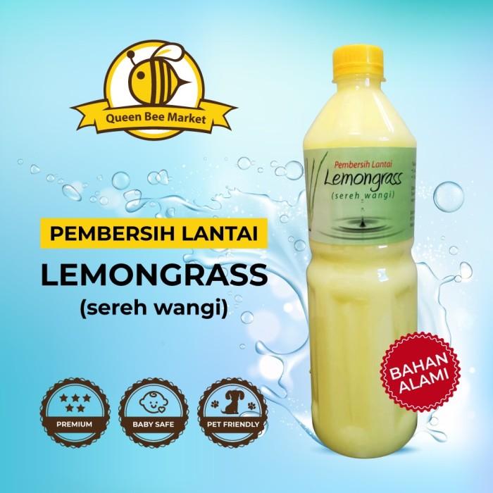 Foto Produk Cairan Pembersih Lantai Sereh Wangi Lemongrass 1 Liter Karbol Sabun - Lemongrass dari Queen Bee Market