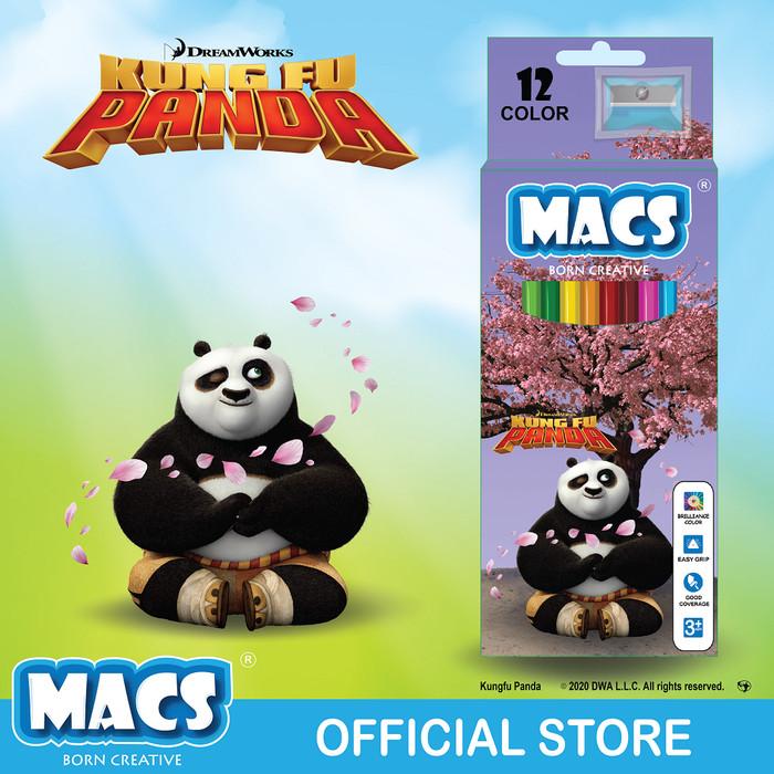 Pensil Warna MACS Kung Fu Panda 12 color pencils