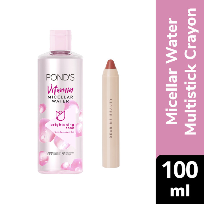 Foto Produk Ponds Micellar Water Brightening Rose 100Ml X Dear Nadia 3-in-1 Crayon dari Unilever Official Store
