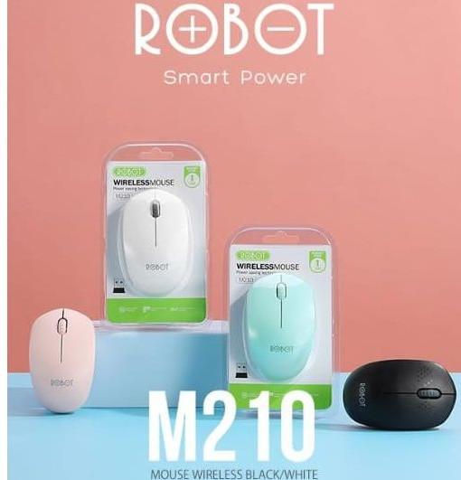 Foto Produk Mouse Robot M210 Wireless M 210 Mouse - Putih dari PojokITcom Pusat IT Comp