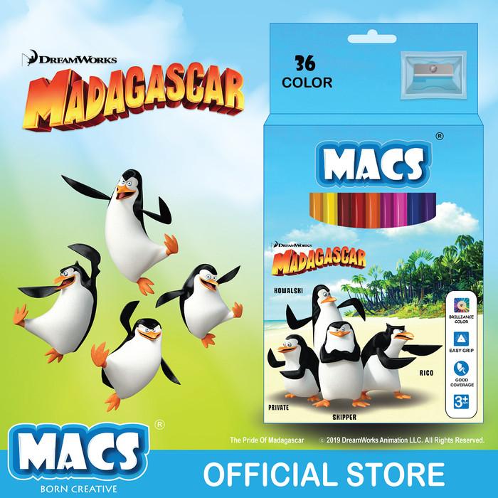 MACS Coloring Pencils Madagascar 36 pensil warna