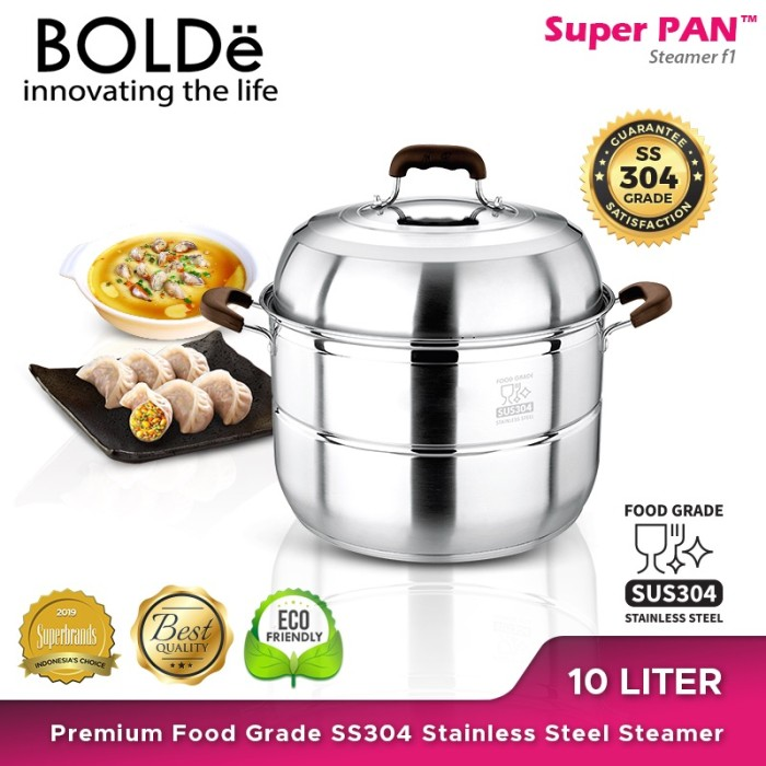 Foto Produk SUPER PAN SS 304 Stainless Steel Steamer dari BOLDe Official Store