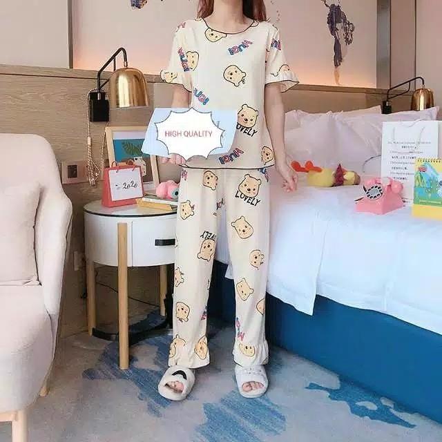 Foto Produk Piyama CP Import Pooh Lovely Dewasa dari Wallsticker shop