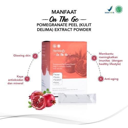 Foto Produk Herbilogy - On The Go - Pomegranate Peel / Kulit Delima Extract Powder dari Kantin Organik