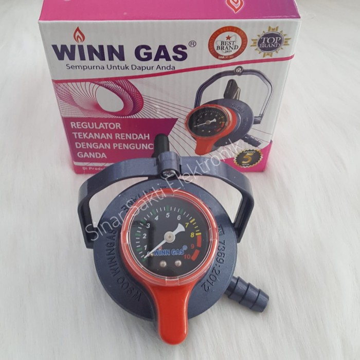 Jual Regulator Kompor Winn Gas W 900 M Double Lock Pengaman Gas Meter Sni Kota Malang Sinar Sakti Elektronik Dinoyo Tokopedia