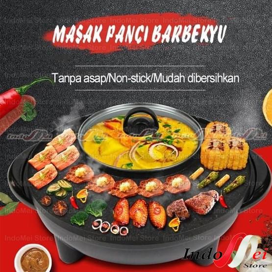 Foto Produk Panci Hot Pot Barbekyu Han River Hot Pot Barbeque Smokeless dari Indomei Store