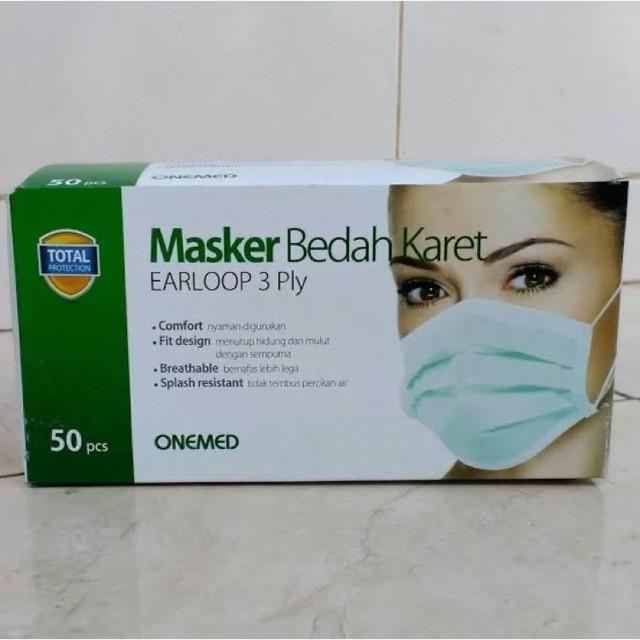 Foto Produk Masker Bedah Karet / Earloop 3 Ply Onemed Isi 50pcs dari Kantin Organik