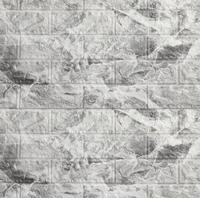 Foto Produk Wallpaper Dinding 3D Bata 70 x 77 cm Brick Foam - Bata Marmer Abu dari Maju Interior