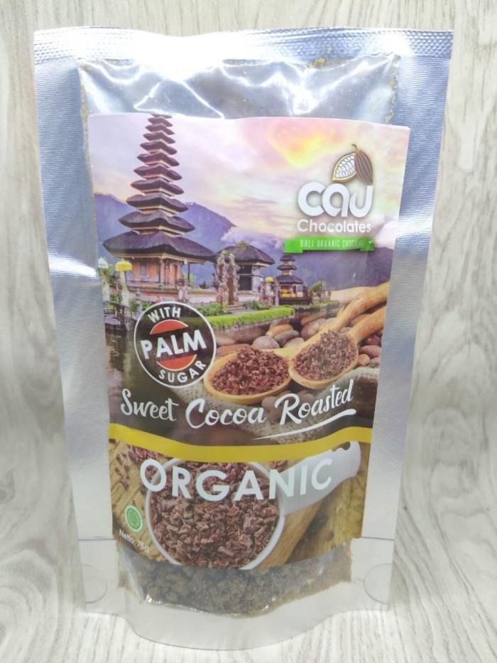 Foto Produk Sweet Cocoa Roasted With Palm Sugar Nibs - Cau Chocolates 75gr dari Kantin Organik
