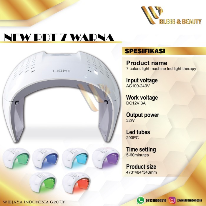 Foto Produk PDT LIGHT 7 WARNA PHOTODYNAMIC THERAPY TREATMENT PDT LIGHT LED dari blssshop