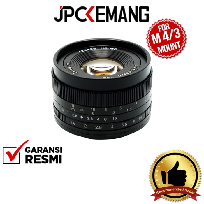 Foto Produk 7Artisans 50mm f1.8 for Panasonic Olympus MFT 50mm f/1.8 GARANSI RESMI dari JPCKemang