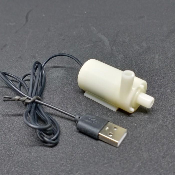 Foto Produk Pompa Air Celup V2 USB DC 3-6V mini Aquarium Hidroponik dari GG outlet