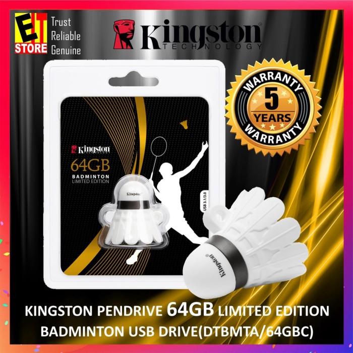 Foto Produk KINGSTON USB FLASH DISK 64GB BADMINTON LIMITED EDITION (DTBMTA/64GB) dari A-10 Store
