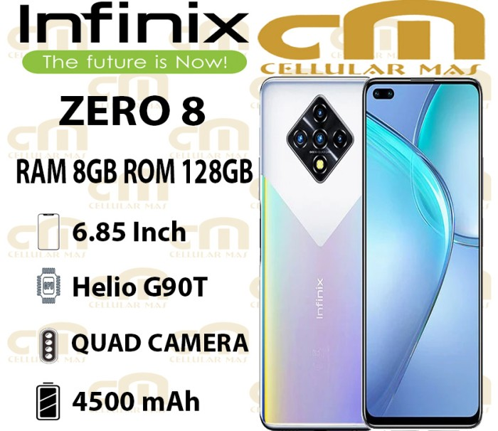 Foto Produk Infinix Zero 8 8/128 RAM 8GB ROM 128GB GARANSI RESMI INFINIX - Black Diamond dari Cellular Mas