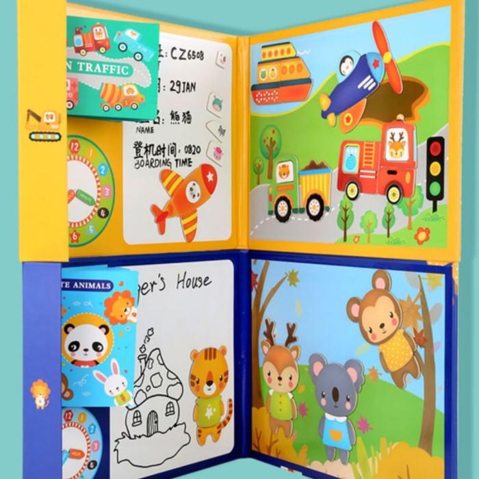 Foto Produk Mainan anak Buku magnetic gambar,papan tulis magnet+gambar - animal dari AUTO KID II