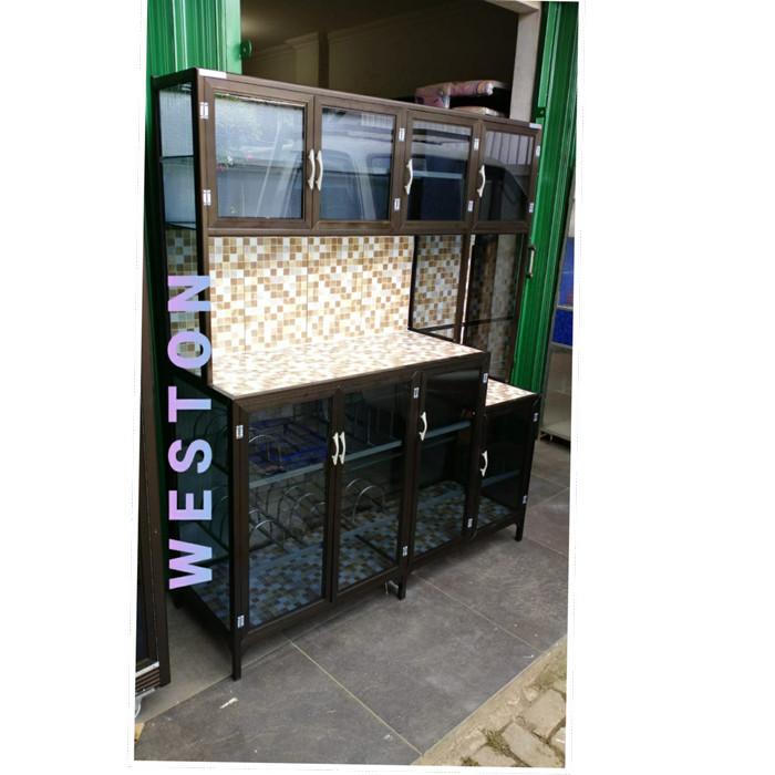 Foto Produk LEMARI RAK PIRING KERAMIK 3 PINTU UNDAK (TEBAL) - Cokelat, 3 pintu dari weston store