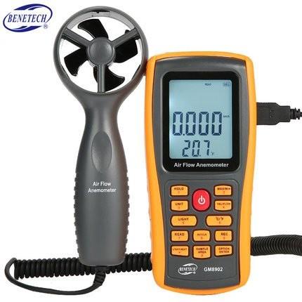 Foto Produk GM8902 Benetech Anemometer Data Logger Flow Meter GM-8902 CFM Loger dari HRDIK
