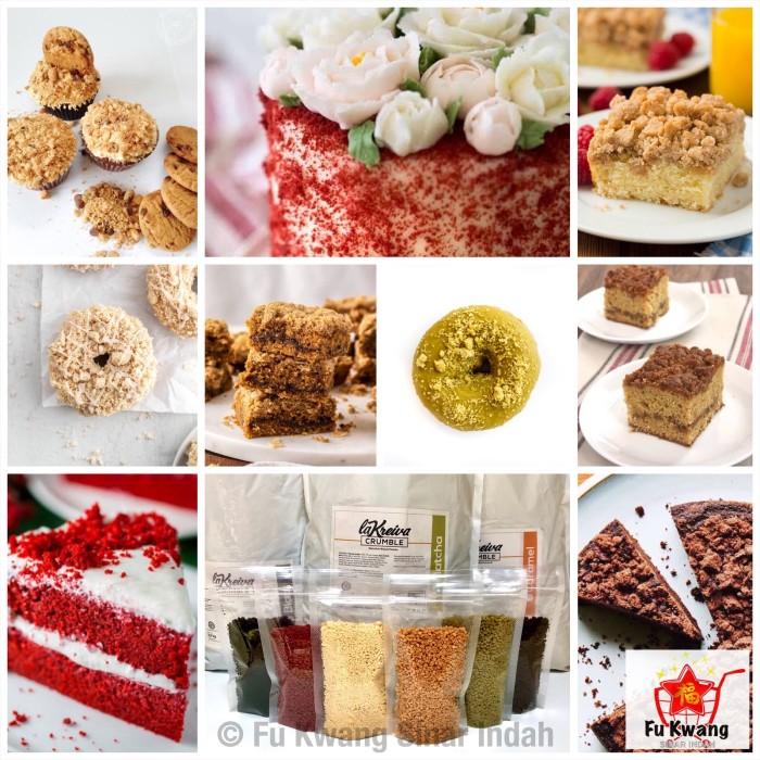 Foto Produk La Kreiva Cookie Crumble Crumb Topping Donat repack 250 gram - Matcha dari Fu Kwang Mart
