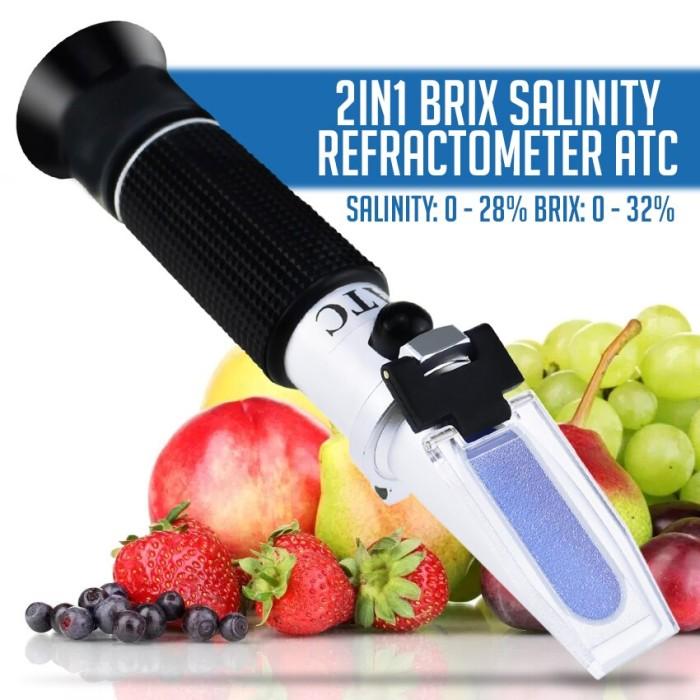 Foto Produk Refractometer 2 in 1 Brix 0-32% Salt 0-28% Gula Garam Refraktometer dari HRDIK
