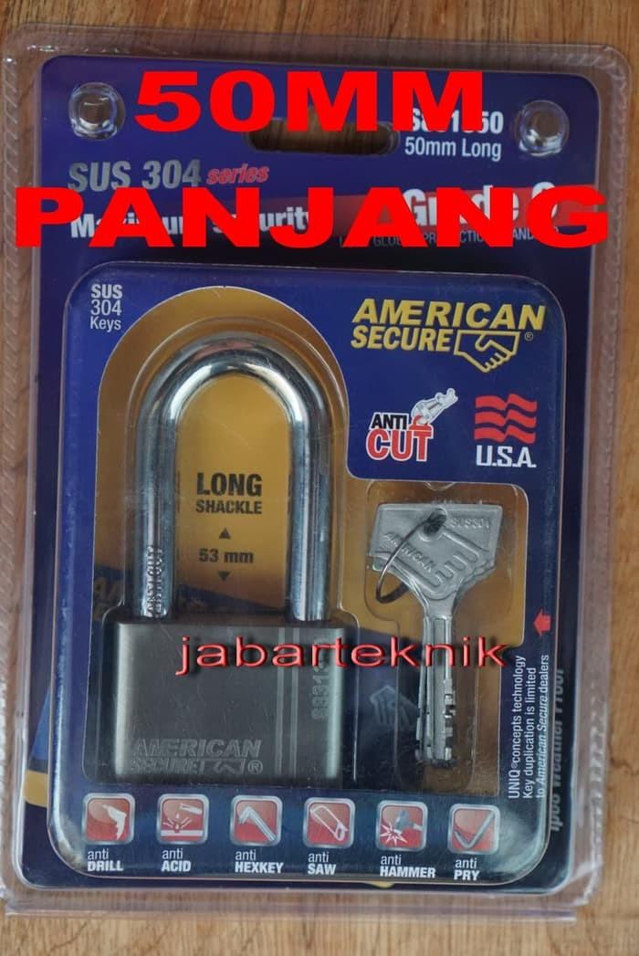 Foto Produk GEMBOK AMERICAN SECURE 50 PANJANG ANTI POTONG MALING CAIRAN SETAN dari JABAR TEKNIK