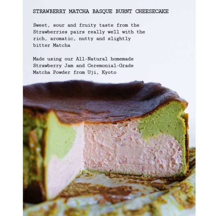 Jual Strawberry Matcha Basque Burnt Cheesecake Jakarta Utara Anggulbakesandbrew Tokopedia