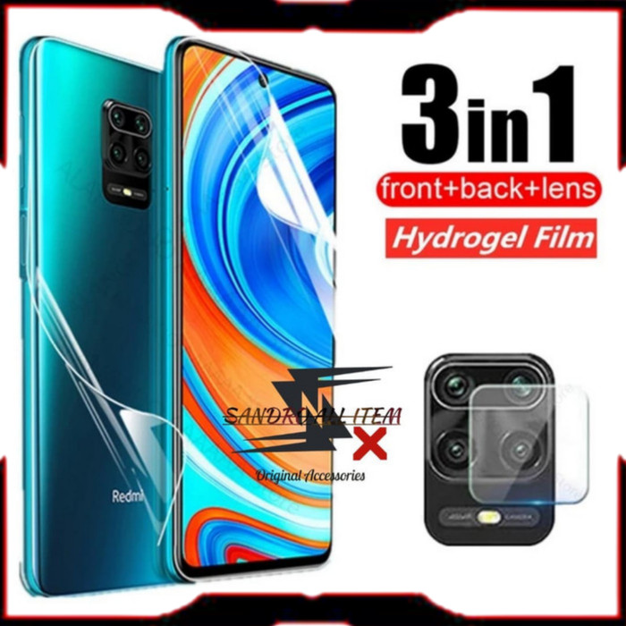 Foto Produk Hydrogel Front+Back Xiaomi Redmi Note 9s/9 Pro/9 Max 3in1 +Lens Camera dari Sandro All Item