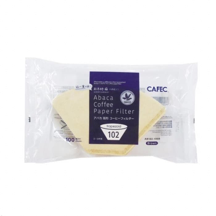Foto Produk Alat Kopi Cafec Abaca AB102-100B Flat Bottom Coffee Filter Paper dari MinnieStore