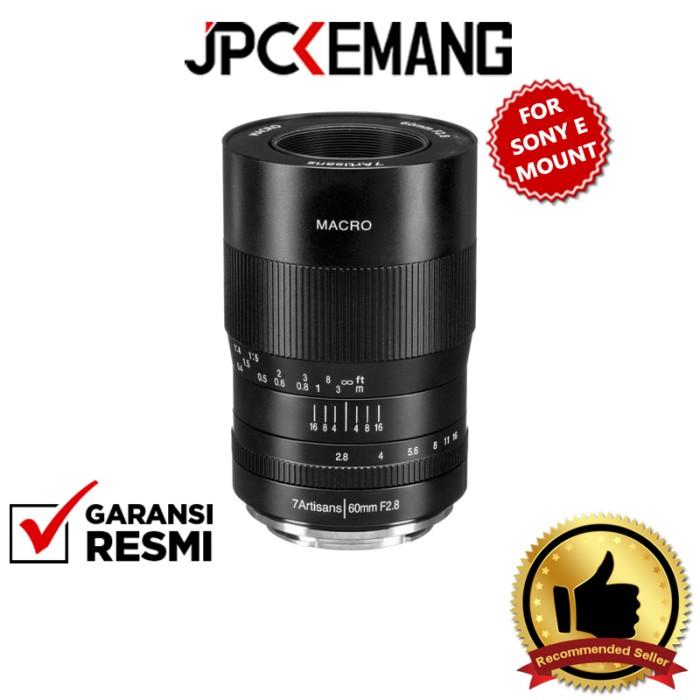 Foto Produk 7artisans 60mm f2.8 Macro 7artisans 60mm f/2.8 Macro Lens GARANSI RESM - Sony E dari JPCKemang