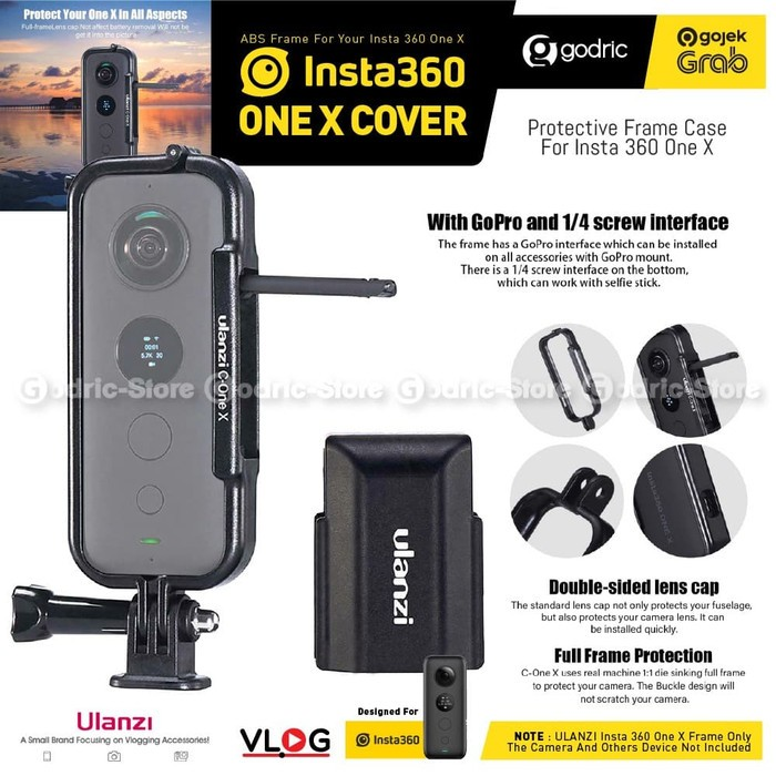 Foto Produk ULANZI C-ONE X Frame Case Cover for Insta360 ONE X Cage Lens Protect dari Godric Store