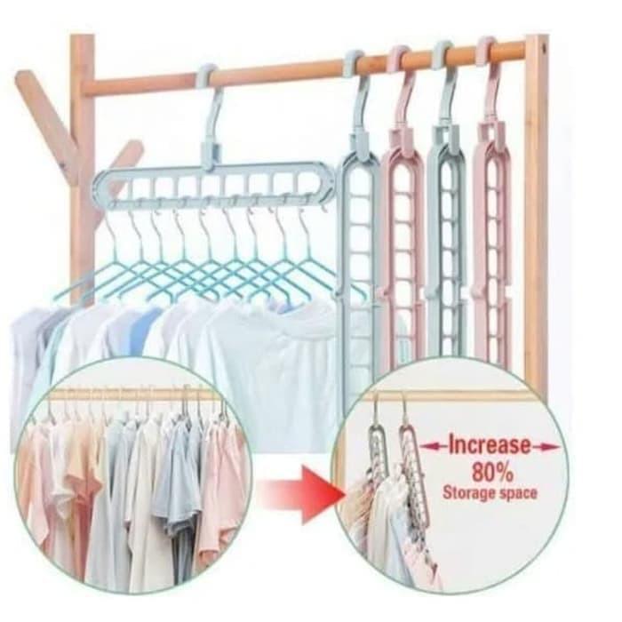 Foto Produk Magic Hanger instant 9in1 / Gantungan Hanger Baju Lemari dari AnerStore