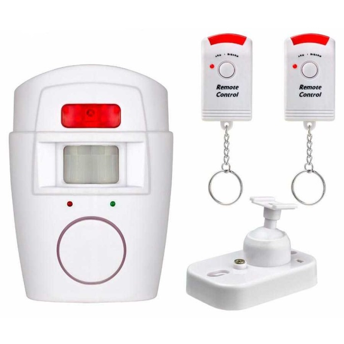 Foto Produk Alarm Anti Maling Infrared PIR Sensor Gerak 2 Remote - Putih dari conngallery