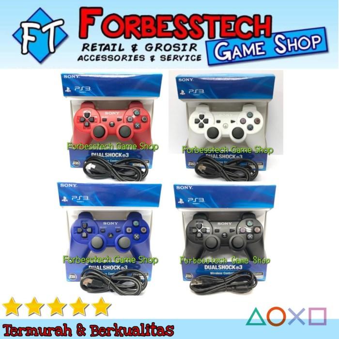 Foto Produk Stik Stick Joystick Sony PS3 Wireless Controller OP + Kabel USB Vaio - Hitam dari Forbesstech game shop