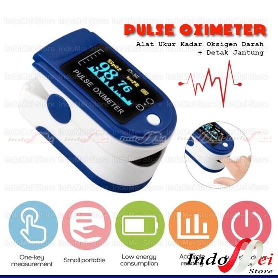 Foto Produk Oximeter Oxymeter pulse FINGERTIP UKUR Oksigen darah -detak jantung dari Indomei Store
