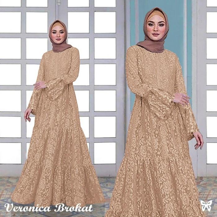 Jual Gaun Pesta Mewah Artis Model Baju Brokat Pernikahan Terbaru 2020 Cokelat L Jakarta Pusat Mia Official99 Tokopedia