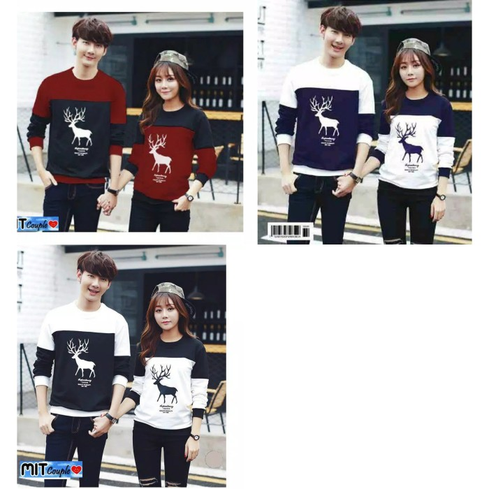 Foto Produk Sweater Couple LP Rusa dari Wallsticker shop