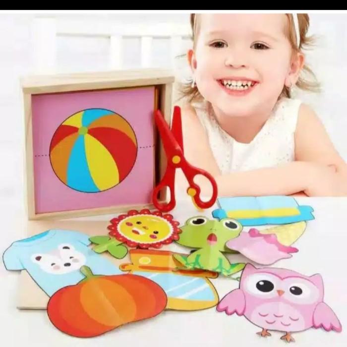 Foto Produk Mainan edukasi anak belajar menggunting kertas gambar-Hand made paper dari AUTO KID II