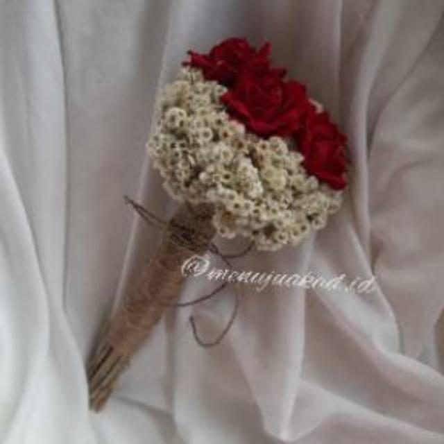 Jual Bunga Edelweis Mawar Bouquet Hadiah Wisuda Lamaran Prewedding Jakarta Barat Novalia Shoop Tokopedia