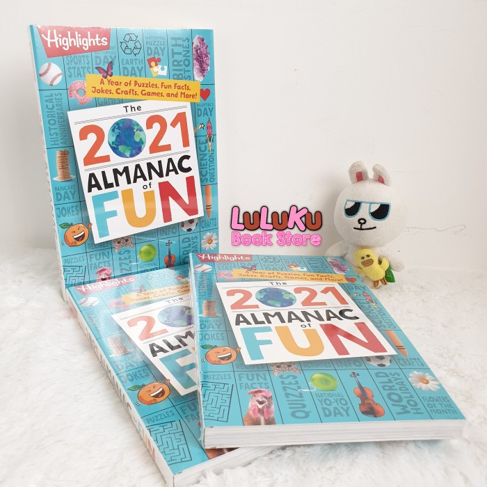 Foto Produk Buku Anak Import Highlights - The 2021 Almanac of Fun - activity book dari LuLuKu Book Store