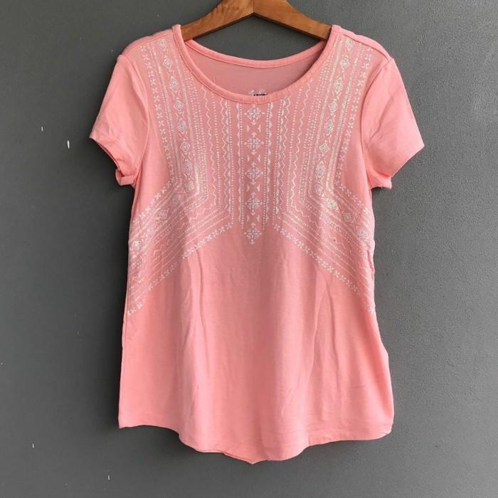 Foto Produk Baju kaos anak branded Justice peach glitter 10 T dari Galeri Ona
