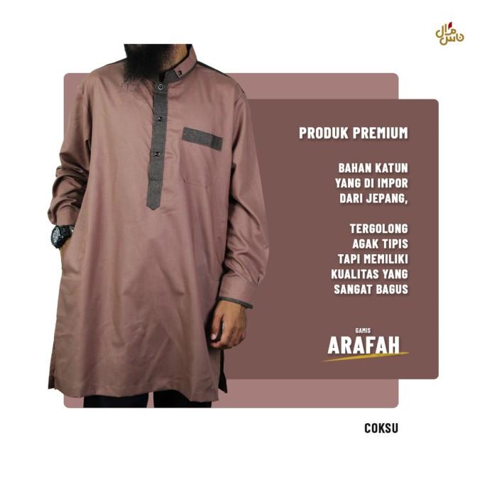 Foto Produk Gamis Pria Arafah Manset / Baju Gamis Kurta Pria / Gratis Peci Rajut dari Gerai Salman