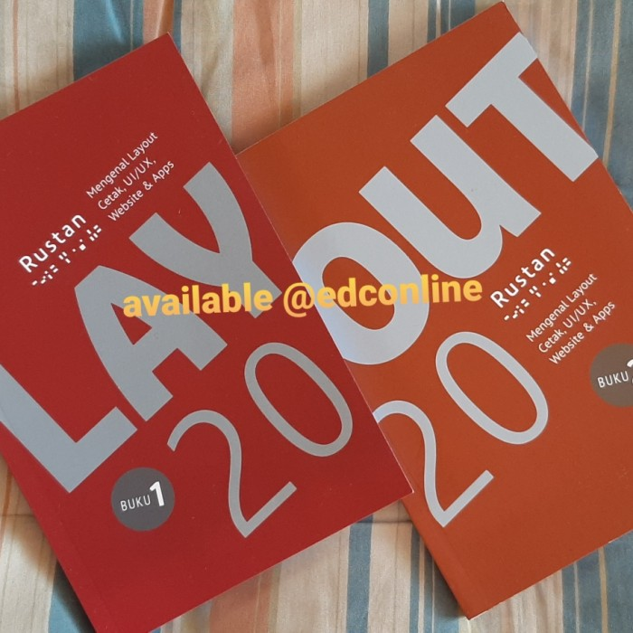 Foto Produk buku desain layout versi 2020 surianto rustan paket 2 buku dari EDC Online