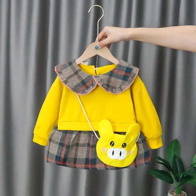 Foto Produk Dress Bayi/Dress Anak/Dress Lucu - DL-008 - Kuning, M dari Optima Style
