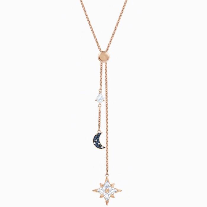 Jual Swarovski Symbolic Y Necklace Multi Colored Rose Gold Tone Plated Kota Medan Luxurier Tokopedia